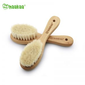 Haakaa Wooden Baby Hairbrush
